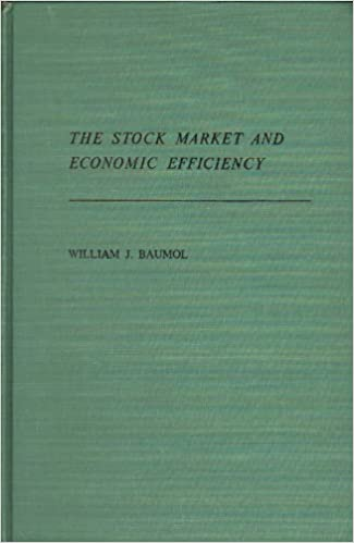 The Stock Market and Economic Efficiency, Baumol, William J.