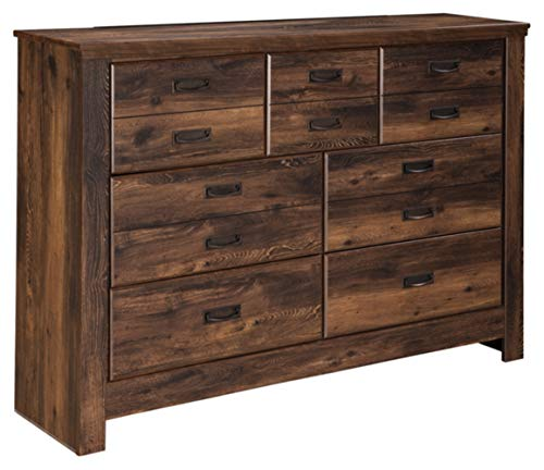 Ashley Furniture Signature Design - Quinden Dresser - 7 Drawer - Dark Brown