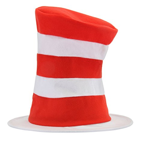 [Dr. Seuss Cat in the Hat Kids Tricot Hat by elope] (White Cat Costume For Women)