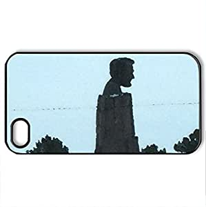 Abraham Lincoln - Case Cover for iPhone 4 and 4s (Monuments Series, Watercolor style, Black)
