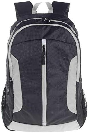 BAJIMI ハイキングバックパック、学生のバックパック、バックパック旅行バッグスキンバッグ防水バックパックの男性と女性のアウトドア軽量ファッションカジュアルスペアバッグ、グレー