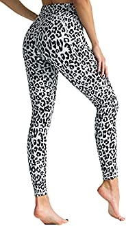 FITTIN Yoga Leggings for Women with Pocket -Printed Leopard Pants for Sports Fitness Gym Workout
