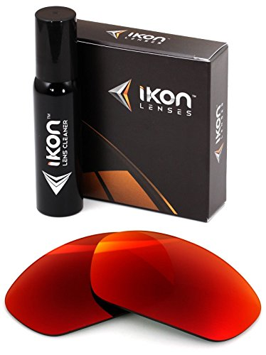 Polarized Ikon Iridium Replacement Lenses for Oakley X-Metal Juliet Sunglasses - + Red Mirror