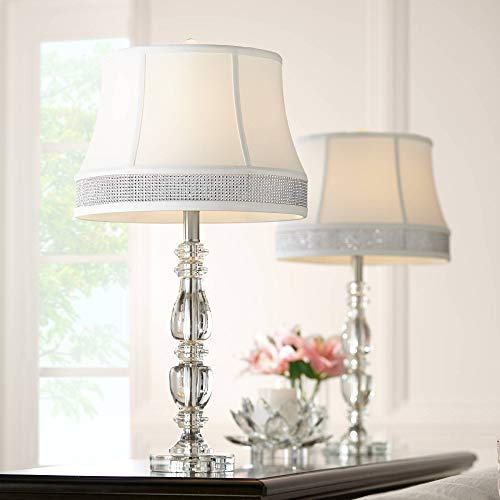 Ana Crystal Table Lamps Set of 2 with Gallery Bling Shades - Vienna Full Spectrum