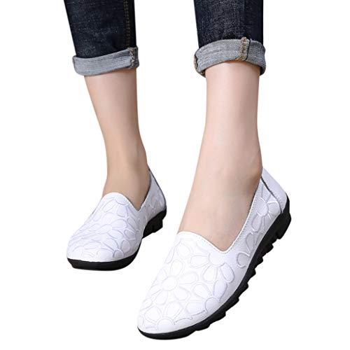 Morbide Di Yunyoud Scarpe Affascinanti Bianco Casual Flessibilità Basse Ricami Piene Lavoro Con Leggera Da Moda Donna OaOfqdxzrw