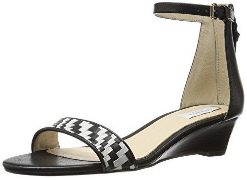 Sandal Wedge Weave Damen WDG Cole Black Genevieve Haan 4YqqfO