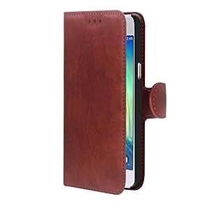 Funda Washed Color Rojo con bolsillos y cierre magnético tipo libro para Samsung Galaxy A3