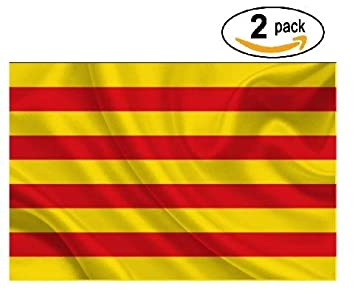 Cramesoj Bandera de CATALUÑA 150x90cm - 2 unitats - SENYERA CATALANA - Catalunya 90 x 150 cm: Amazon.es: Jardín