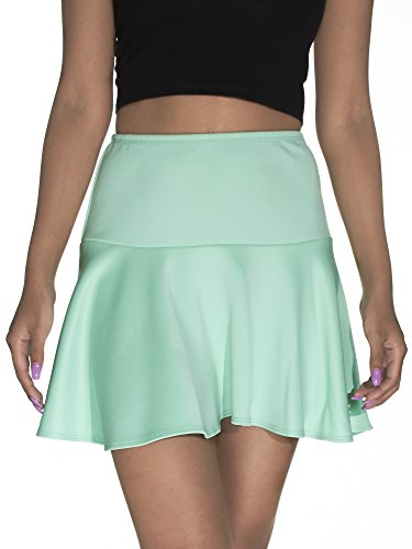 River Island Pull On Drop Seam Flared Skater Skirt Techno MINT XL (River Island)