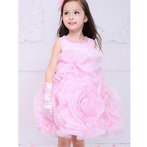 Paillettes Bapteme Fille De A Rose Robe nx7vTx
