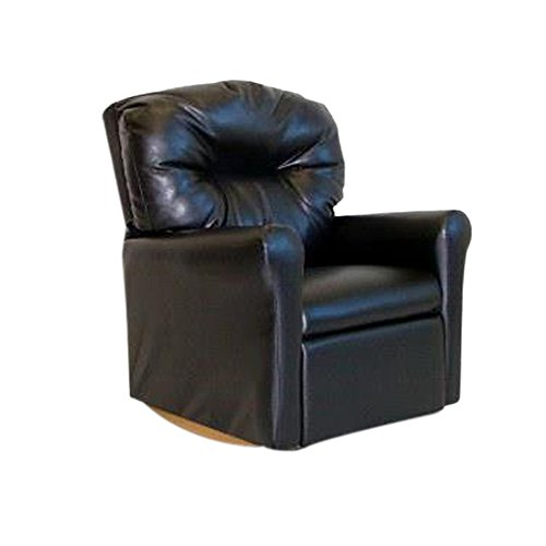 - Dozydotes Contemporary Child Rocker Recliner Chair - Black Leather Like