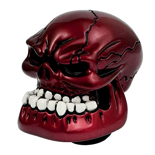 Cacys-Store - Amico Burgundy Carved Skull Universal Car Gear Stick Shift Knob Shifter Cover