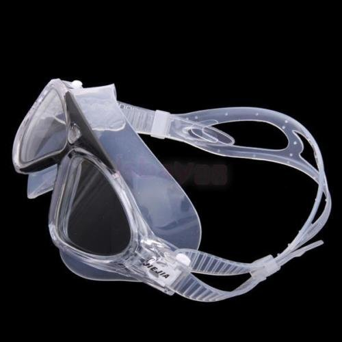 Costumes Supplies Australia (Adult Clear Silicone LARGE Anti-fog Swim Goggles Glasses Swimming Training Mask)