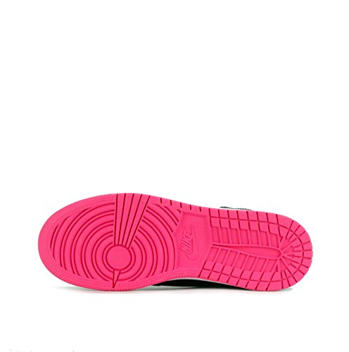 Nike - Zapatillas de Piel para niña negro Schwarz/Weiß/Rosa