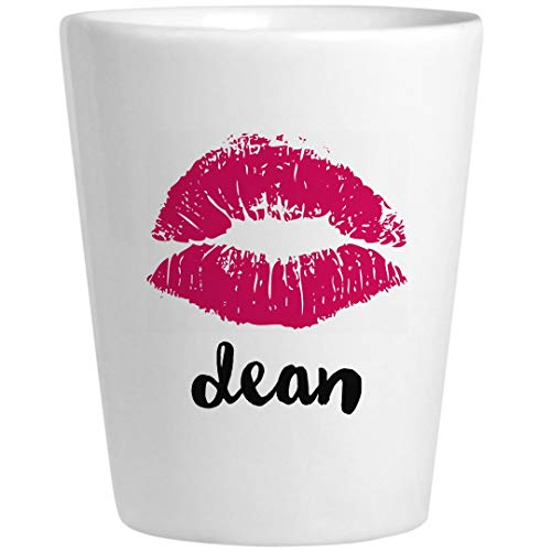 Dean Birthday Kiss Gift: Ceramic Shot Glass
