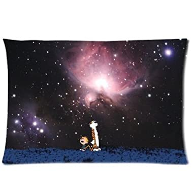 Calvin and Hobbes Custom Zippered Pillow Case 20 x30 (Two side)-MD1