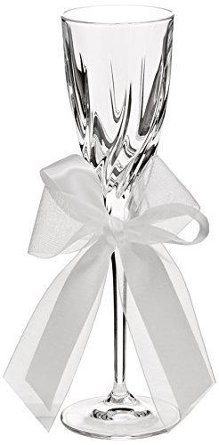 - Ivy Lane Design Tres Beau 24-Percent Lead Crystal Toasting Flutes, Set of 2, White by Ivy Lane Design