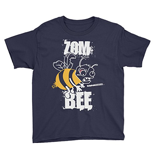 Kids Brainzzzzz Zombee Zombie Halloween Costume T-Shirt (XS, Navy)]()