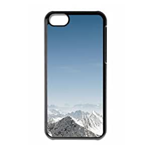 iPhone 5C Case,Snow Mountains Hard Shell Back Case for Black iPhone 5C Okaycosama369277