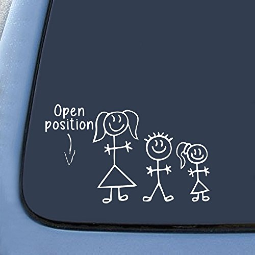 STICK FIGURE FAMILY Position Open Sticker Decal Notebook Car Laptop 6