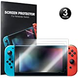 Nintendo Switch Screen Protector- Younik 0.125mm/4H High Response Clear Film Screen Protector for Nintendo Switch (3 Packs)