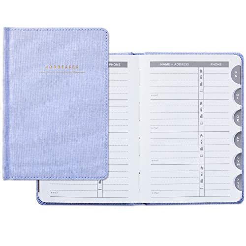 Hallmark Hardcover Address Book (Blue -