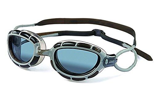 - Zoggs Predator Silver-Smoke Swimming Goggles No Leaking Anti Fog UV Protection Triathlon Swim Goggles for Adult Men Women