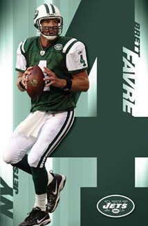 Brett Favre NEW YORK JETS ACTION Poster ()