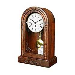 Sso Desk Table Clock Living Room Large Pendulum Desktop Tabletop Red Rosewood Helmler