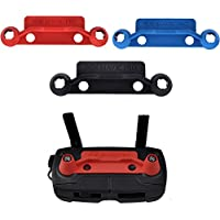 3Pcs Upgrade Version Transmitter Controller Stick Thumb Protective Clip Rocker for Dji Mavic Pro with Screen Anti-Scratch Protector, Red Blue and Black (DJI mavic not included)