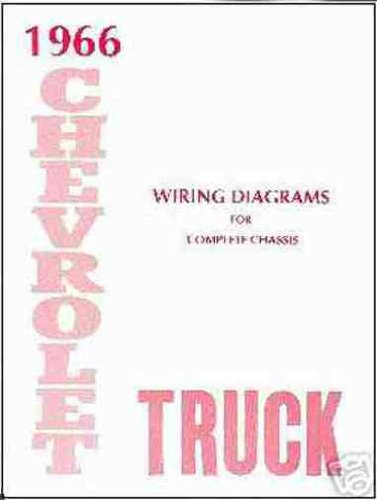 1966 CHEVROLET TRUCK & PICKUP COMPLETE 10 PAGE SET OF FACTORY ELECTRICAL WIRING DIAGRAMS & SCHEMATICS GUIDE Covers panel, platform, suburban, low cab, tilt cab, light, medium, heavy duty truck ½-ton, ¾-ton, 1-ton, 1 ½-ton, 2-ton - CHEVY 66 (Complete Set Wiring Truck)