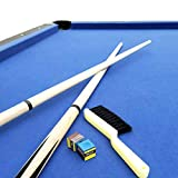T&R sports 6 FT Pool Table Timber Foldable Billiard Table Childrens' Fold Away Snooker Table Easy Storage Space Saver Game Table with Free Accessories Pack