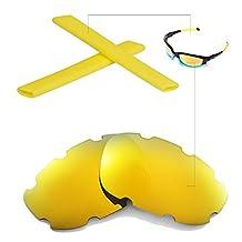 Walleva Replacement Vented Lenses Or Lenses/Earsocks for Oakley Split Jacket Sunglasses - Multiple Options