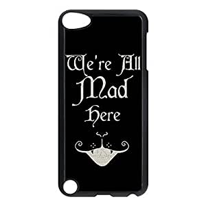 Cheshire Cat Quotes We Are All Mad Here Printed Environmental Custom TPU Case Cover for iPhone 6 Plus 5.5