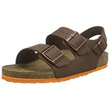 Birkenstock Milano 035193 (Narrow Fit) - Desert Soil Brown (Synthetic) Childrens Sandals