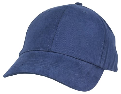 DALIX Unisex Hat Hat Fine Brushed Cotton Ball Cap In Navy Blue