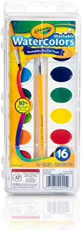 Crayola Watercolor Set: 1 set, 16 colors, Multicolor