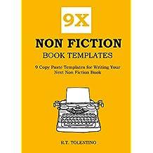 9X NON FICTION BOOK TEMPLATES: 9 Copy Paste Templates for Writing Your Next Non Fiction Book