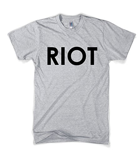 Riot T shirt Funny Shirts for Men Political Novelty Tees Humor,XX-Large,Grey -