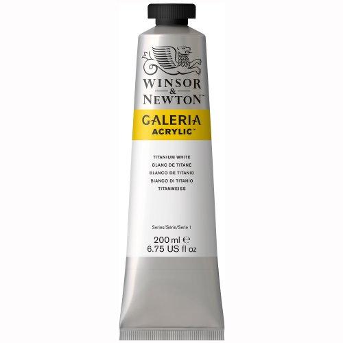Winsor & Newton 2136644 Galeria Acrylic Color Tube, 200ml, Titanium White, 200-ml -