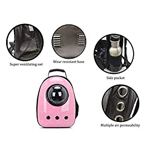 ANXUAN Portable Travel Pet Carrier Backpack, Pet Bubble Traveler Knapsack Multiple Air Vents Waterproof Lightweight Handbag for Cats Small Dogs & Petite Animals
