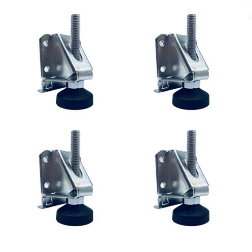 Heavy Duty Adjustable Furniture Leg Leveler w/Lock Hexagon Nuts - 2000 Lb ()