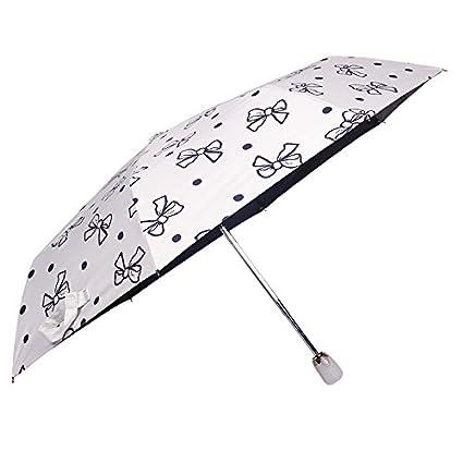 JUZHIJIA Paraguas Automático Paraguas Plegable En Tres Protección Solar Protección contra Rayos UV Lluvia Y Sombrilla