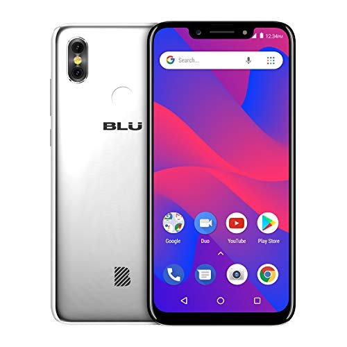 "BLU R2 Plus 2019-6.2"" HD+ Display Smartphone, 16GB+2GB RAM -Silver"