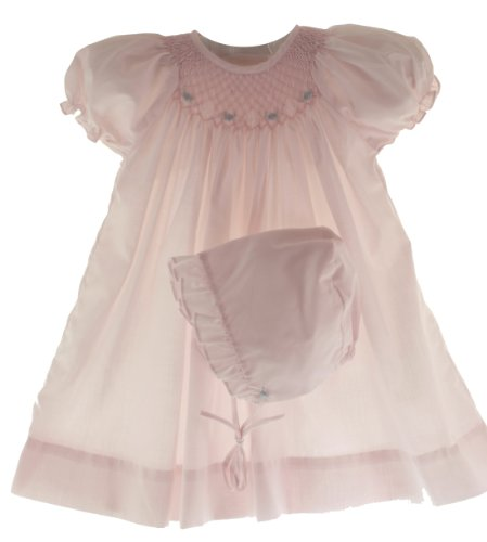 petit-ami-newborn-baby-girls-pink-smocked-dress-bonnet