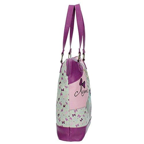 Disney Minnie Glam Borsa Messenger, 35 cm, 9.98 Litri, Rosa