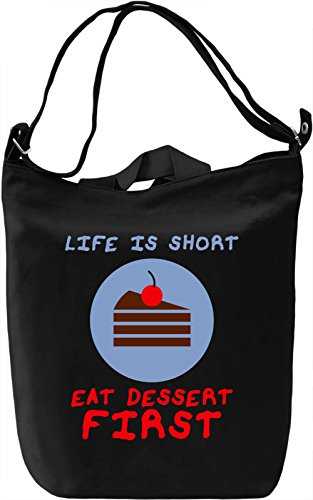 Eat dessert first Borsa Giornaliera Canvas Canvas Day Bag| 100% Premium Cotton Canvas| DTG Printing|