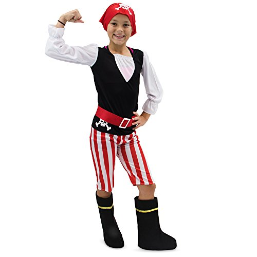 (Pretty Pirate Children's Girl Halloween Dress Up Theme Party Roleplay & Cosplay Costume (Youth Medium)