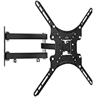 SIMBR TV Wall Mount for most 10-55 LED, LCD Screen Monitor up to 66 lb VESA 400X400 with Full Motion Articulating Arm & Bubble Level