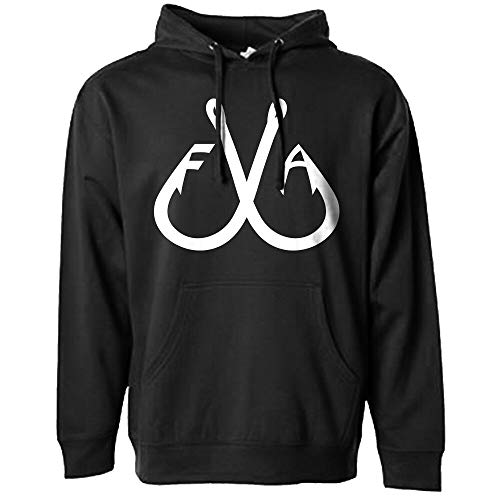 - Filthy Anglers Men's Fishing Hoodie Pullover Sweatshirt with Hood with Double Fishing Hooks Print on Front Women's Unisex Adult (Large, Black)